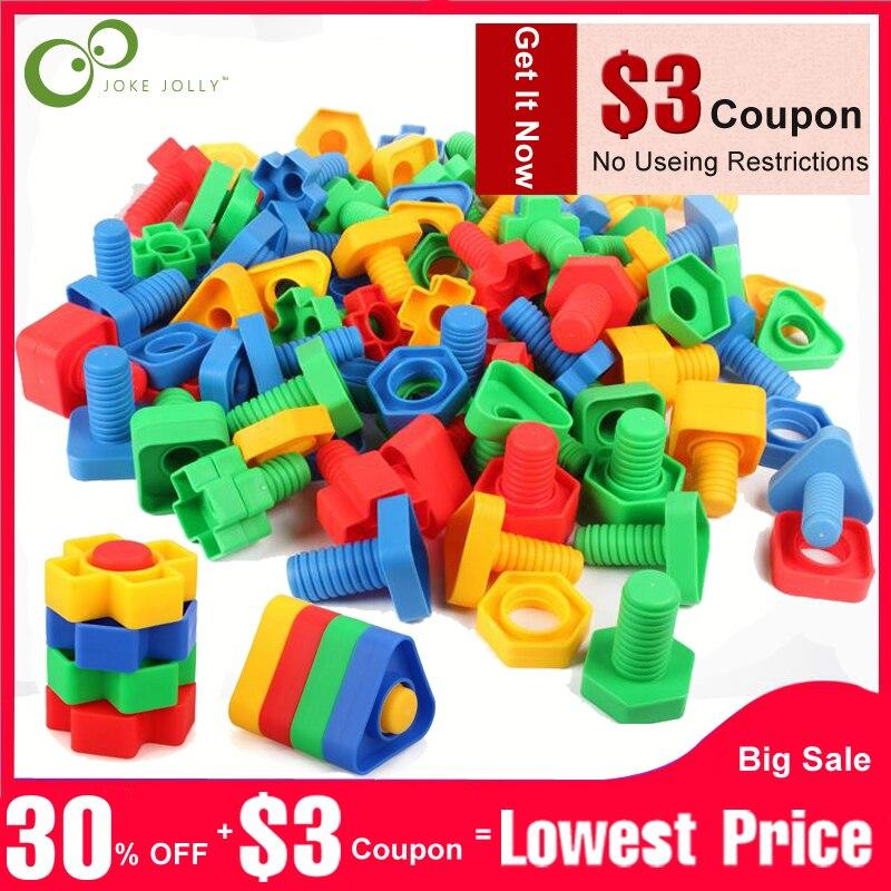 100% Wahr 4 Sets Schraube Bausteine Kunststoff Einsatz Blöcke Mutter Form Spielzeug Für Kinder Pädagogisches Spielzeug Modelle Freies Verschiffen Gyh Zahlreich In Vielfalt