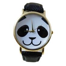 Ladies Faux Leather Band Watch Fashion Panda Quartz Wrist Women Watch relogio feminino horloges Analog Clocks moda mujer New B40