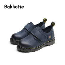 Bakkotie 2017 New Spring Autumn Children Genuine Leather Shoe Baby Boy Fashion Kid Brand Children Casual