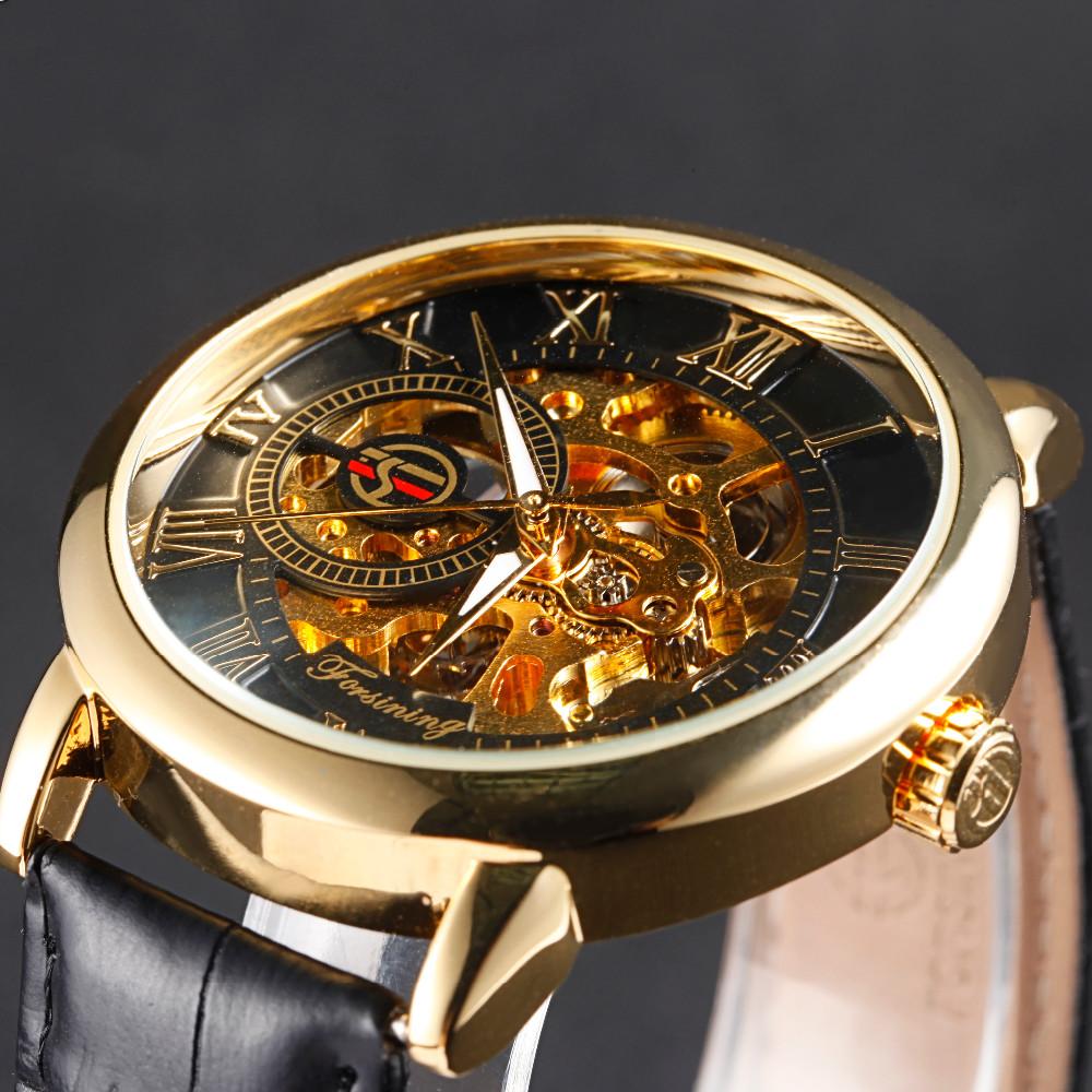 a32ca7969b2 Forsining Homens Relógio Moda Relogio masculino relógio Mecânico Automático  de esqueleto do ouro do vintage 2017 Dos Homens Assistir Top Marca de LuxoUSD  ...