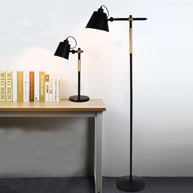 Boden Licht Eisen Kunst Holz Kunst E27 Gedreht Kopf Neben Sofa Wohnzimmer  Amerikanischen Stil Wachsen Licht