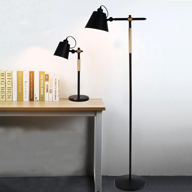 Light Stand For Living Room Virtual Interior Design Floor Iron Art Wood E27 Rotated Head Beside Sofa American Style Grow Bracket Shooting