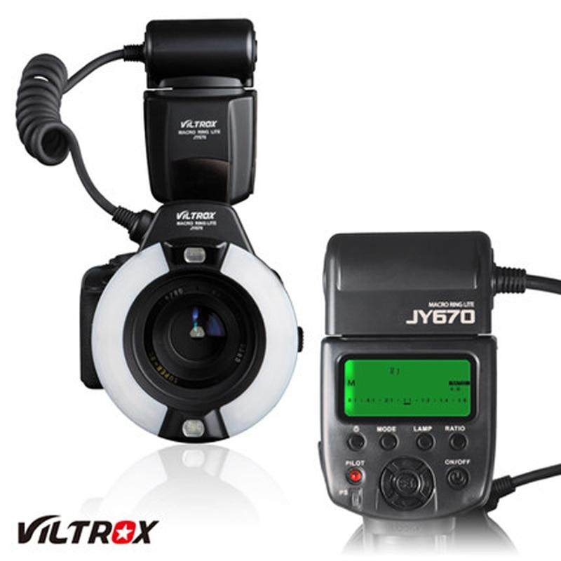 Viltrox JY-670 Professional Macro Ring Flash Light Close Up Light for Sony A100 A200 A300 A330 A350 A450 A500 A560 DSLR Camera