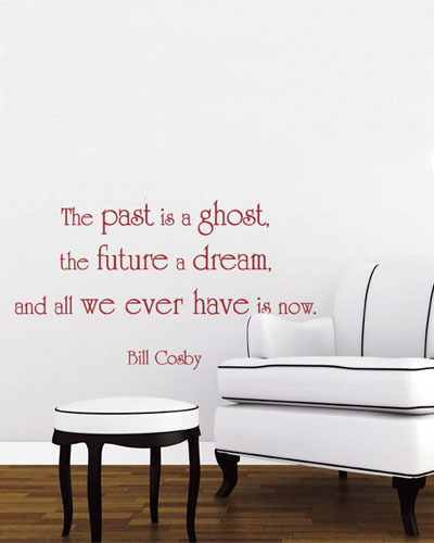 Hot Sale Past Future And Now Removable Living Room Wall Stickers