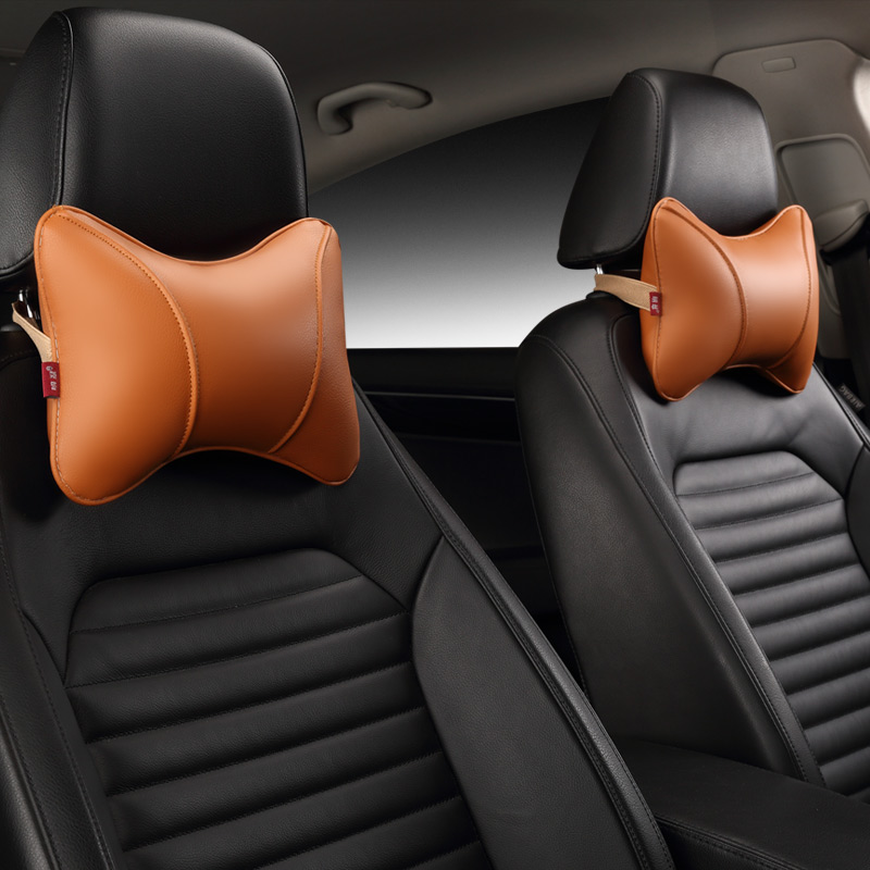 Image 5 - Car Neck Pillow Leather Seat Headrest Car Rest Cushion Car Styling  1Pair Car seat cushion headrest.-in Neck Pillow from Automobiles & Motorcycles