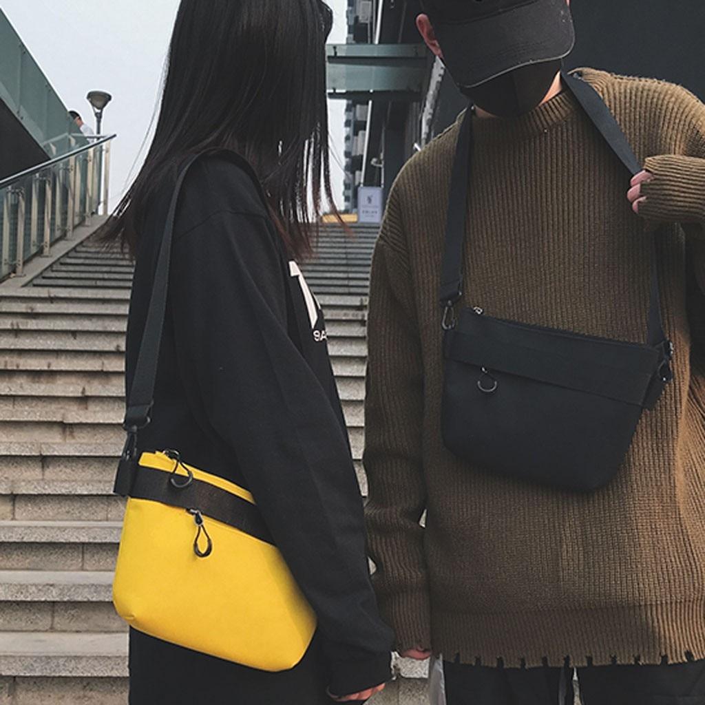 Leisure Shopping Travel Canvas Shoulder Bag Solid Color Korean Version Wild Handbag Bag Inclined Shoulder Bag Borsa Donna