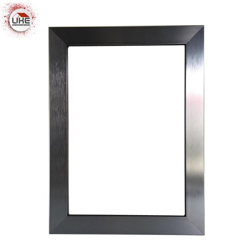 UKE Square Anodized Aluminum Frame For Kitchen Cabinet Glass Door And Window Aluminium Framed Sliding Glass Door