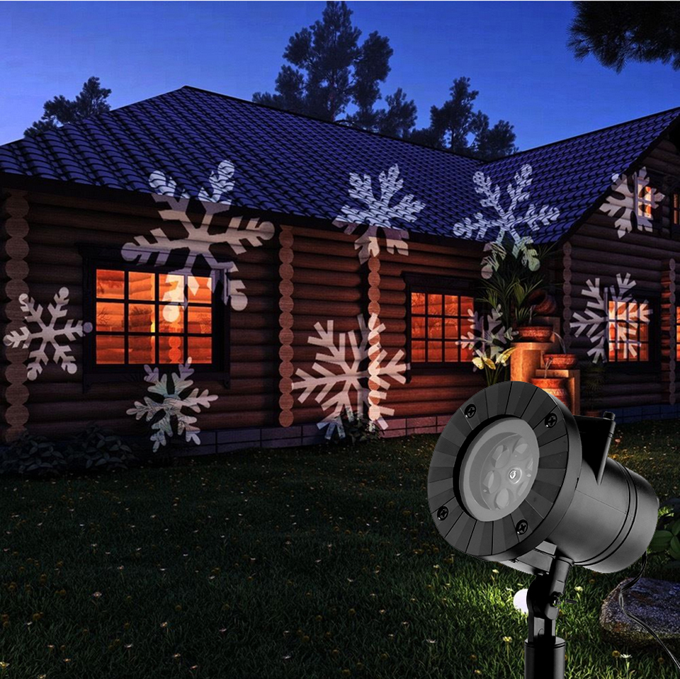 Image 5 - 12 Patterns Christmas Laser Snowflake Projector Halloween Outdoor LED Disco Lights Home Garden Star Light Indoor Decoration-in Stage Lighting Effect from Lights & Lighting
