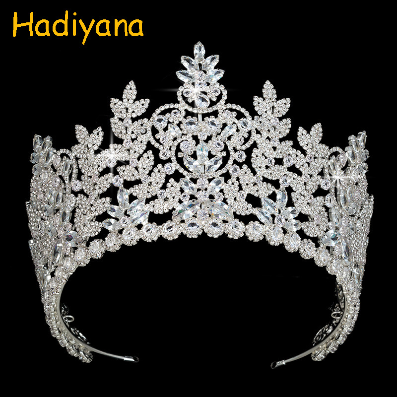 все цены на Hadiyana Bridal Wedding Jewelry Crowns Luxury Rhinestone Princess Tiaras Aristocratic Crown Wedding Accessories For Party BC4044