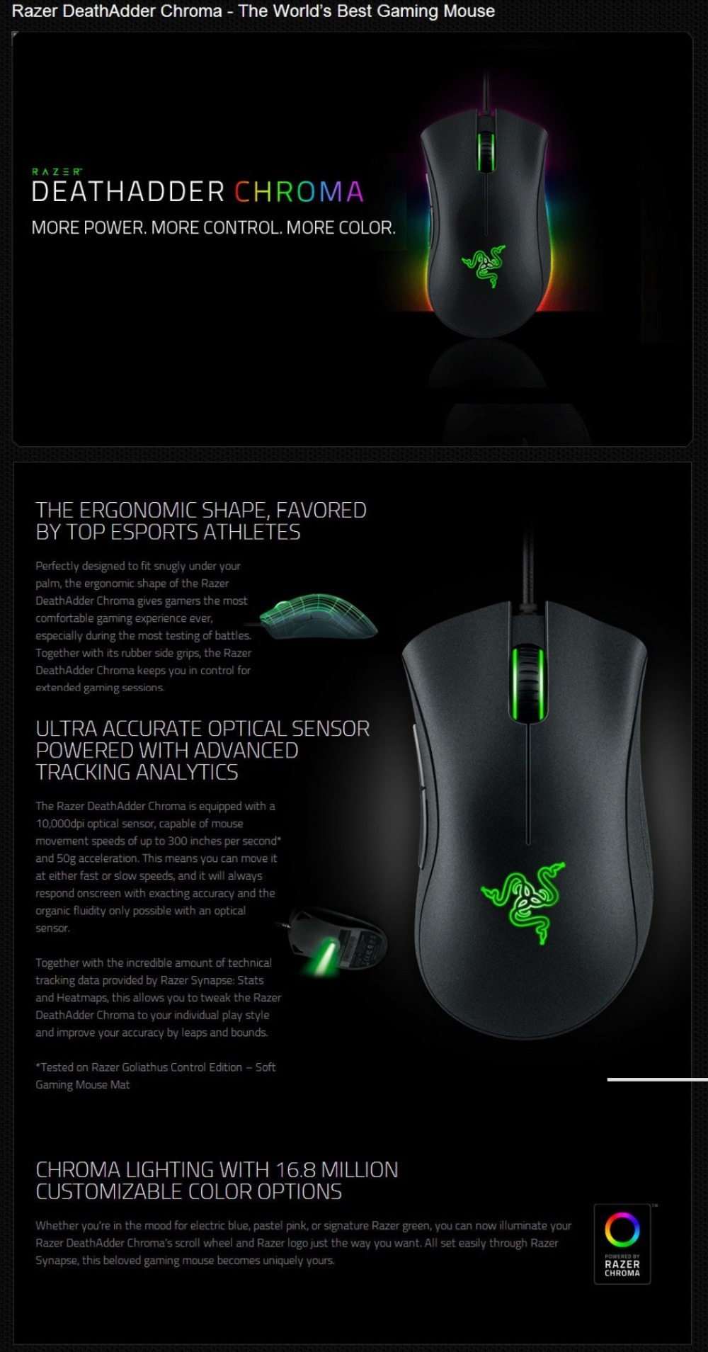 Razer Deathadder Expert 2013 Wired Gaming Mouse 4G Optical Sensor 6400 DPI  Programmable Thumb Hyperesponse Buttons Game Mouse