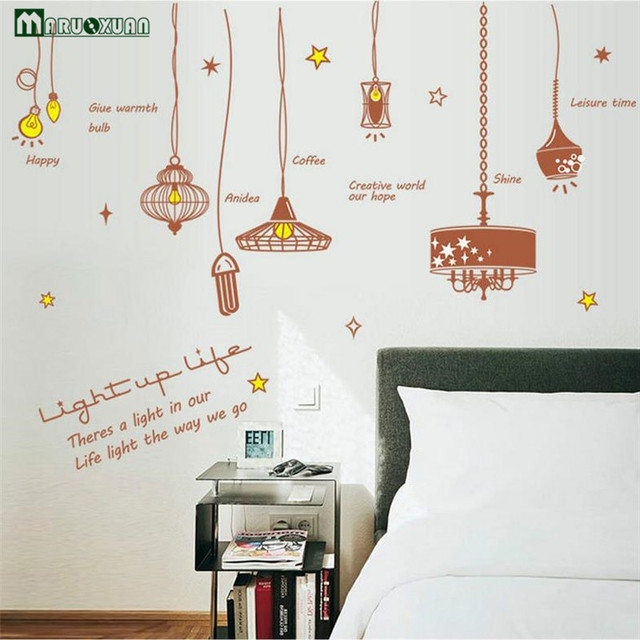 Maruoxuan Cute Light Bulb Room Decor Mural Art Vinyl Wall Stickers Home Decoration Decal For Kids Rooms