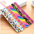 2016  Korean fashion printed double-sided nail file tool manicure free shipping random color