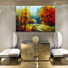 Hand painted Canvas Oil painting Wall Pictures for Living room wall decor art canvas painting palette knife landscape 6