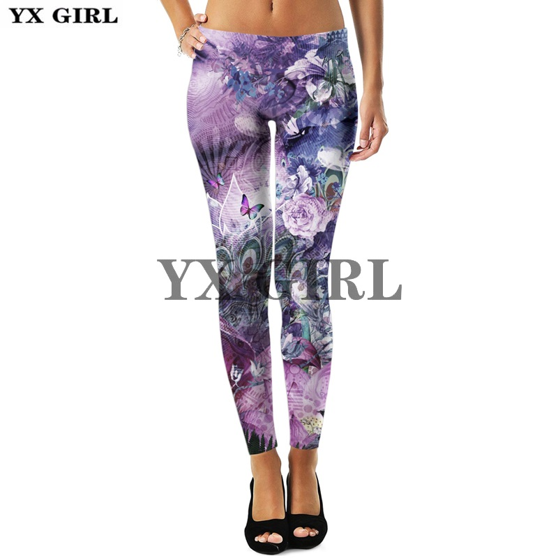 3d Print Colorful Beautiful Flower Floral Leggings For Women Gothic Trousers Thermal Sexy Elastic Workout Goth Fitness Pants Price $17.99