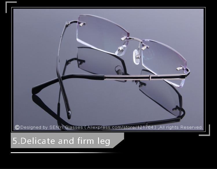 780a811578 Simple Tinted Reading Glasses Men Rimless Reader Glasses High Definition  Lens For Presbyopic EyeGlasses Male Prescription gafas