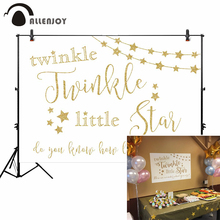 Allenjoy photographic wall-papers photo background twinkle little star sweet heart my love golden backdrops photocall photophone