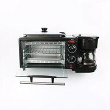 DMWD Приборы для завтрака 3-в-1 кофеварка 220 В духовка электрическая Кофе Maker пицца Яйцо Пирог печь сковорода хлебопечка pancake electric