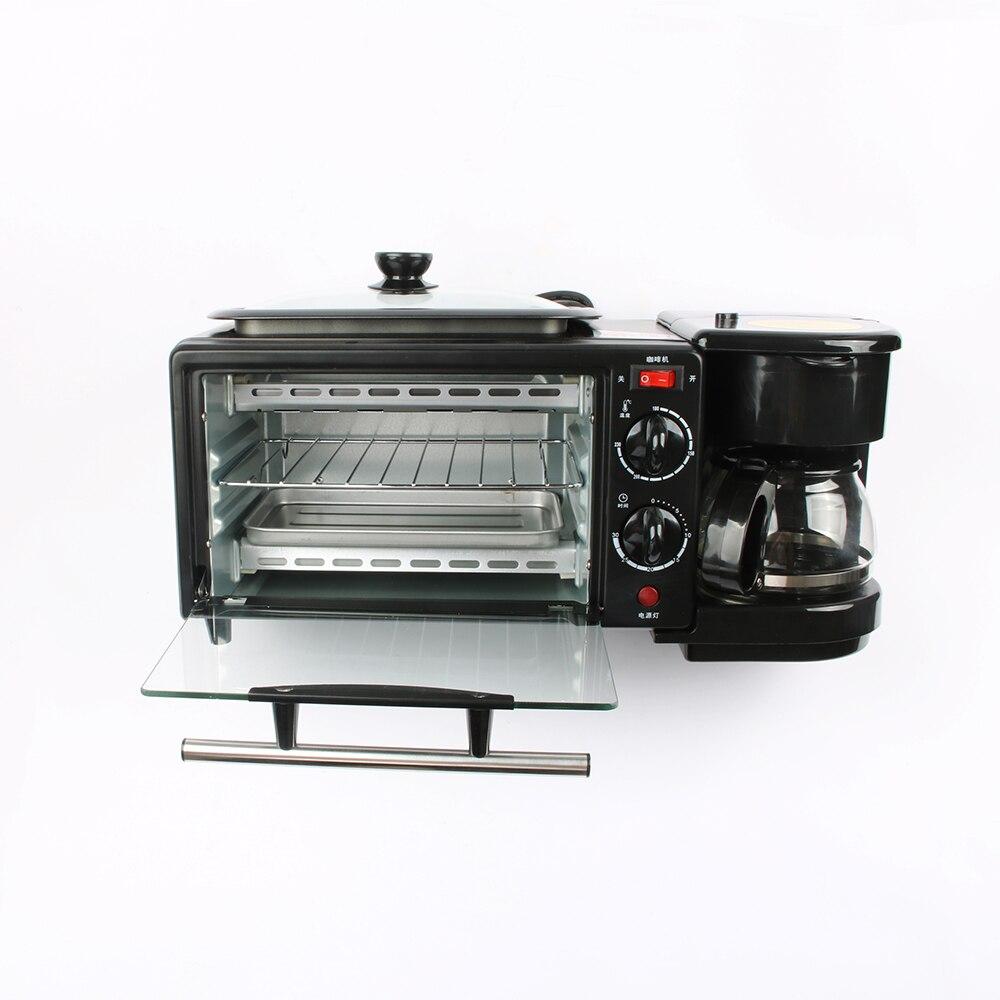 DMWD 3 en 1 électrique petit déjeuner Machine 220 V grille-pain four maison cafetière Pizza oeuf tarte four poêle à pain Machine