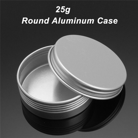24pcs 25g Empty Aluminum Cans Silver Round Cosmetic Cream Jar Hair Wax Case Lip Balm Container Makeup Tin Pot + Screw Thread L Pakistan