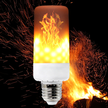 YWXLight E27 E26 B22 E12 E14 3-Modes LED Flame Effect Fire Light Bulbs 6W AC 85-265V Flickering Emulation Decorative Lamp