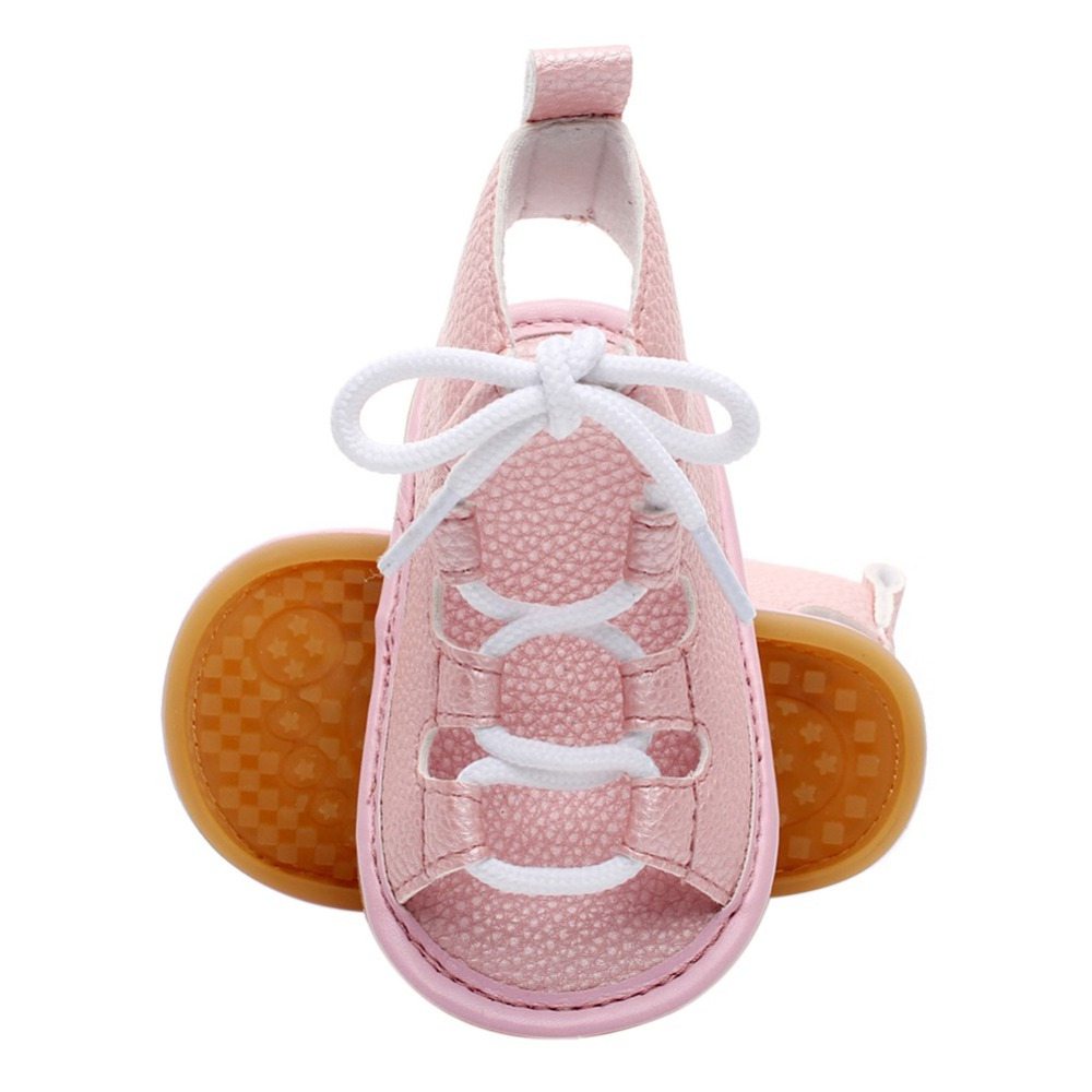 Baby Sandals Boys Girls 2018 New Fashion PU Leather shoes Anti-Slip Flat Summer Sandals Suit for 0-24 Months