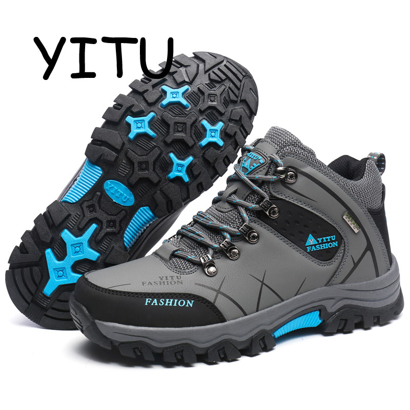 YITU 2018 New Man Outdoor Sports Camping Hiking Shoes Waterproof Breathable Trekking Shoes Hunting Boots Mountain