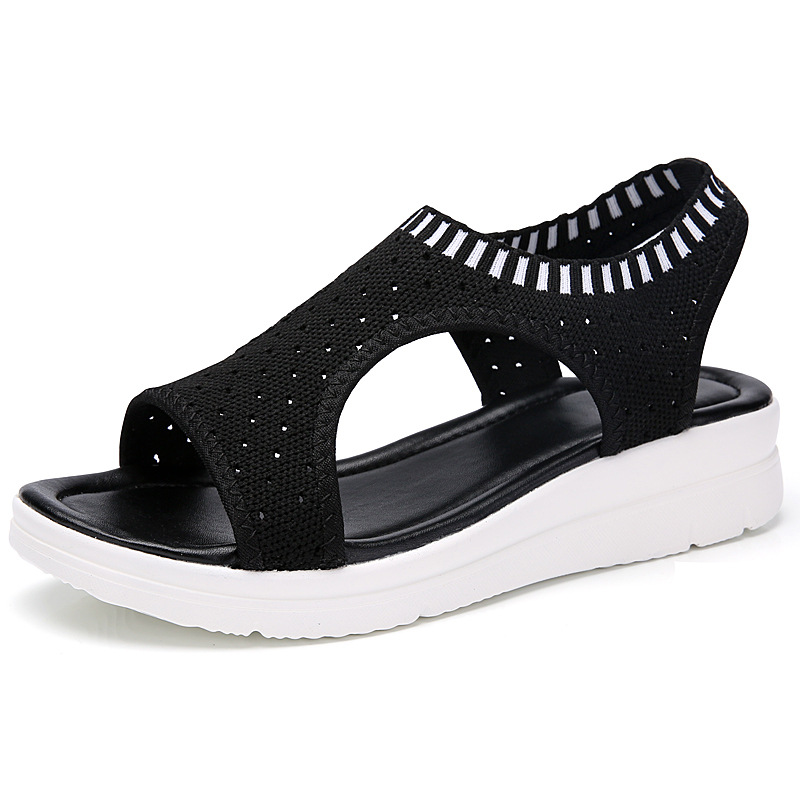 HTB1TsWdx3mTBuNjy1Xbq6yMrVXaE MLANXEUE Fashion Women Sandals For 2019 Breathable Comfort Shopping Ladies Walking Shoes Summer Platform Black Sandal Shoes