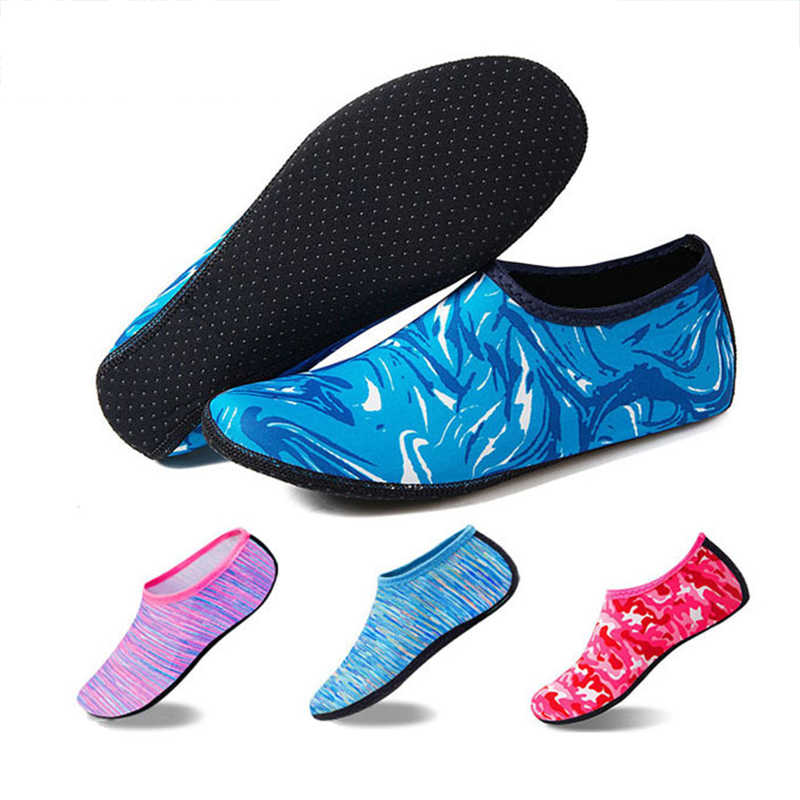 86b6211eb001ea Women Men Beach Shoes Water Sports Footwear Skin Socks Swimming Pool Aqua  Yoga Diving Shoes Wet