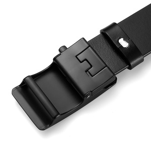 Image 4 - BIGDEAL Mens Belt Cow Leather Belts Luxury Men Automatic Buckle Genuine Leather Strap Waistband Belts For Men 3.5cm