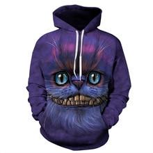 Men's Women's Unisex Big mouth cat 3D Digital Print Pullover Hoodie Hooded Sweatshirt S M L XL XXL 3XL