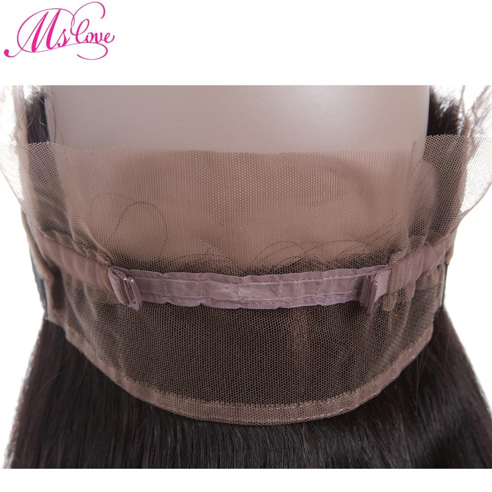 Mslove 360 Lace Frontal With Bundles Peruvian Straight Hair 2 - Skönhet och hälsa - Foto 6