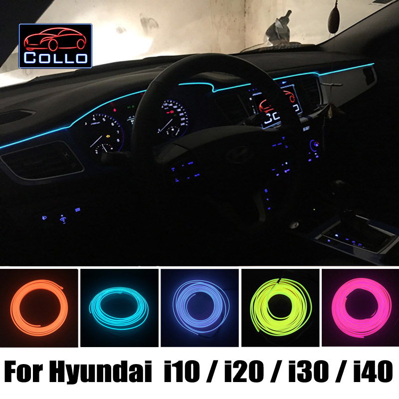 For Hyundai  i10  i20 / i-Gen i20 / Elite i20 / i30 / Elantra Touring / Elantra GT / i40 / Decoration Cold Light Atmosphere Lamp i20