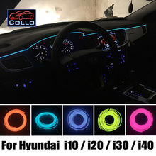 Для Hyundai i10 i20/i Поколения i20/Elite i20/i30/Elantra Touring/Elantra GT/i40/Украшения Холодный Свет Лампы Атмосфера