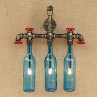 Ретро лампа в стиле стимпанк настенный светильник Ванная комната украшения настенный светильник с G4 стеклянные оттеняющие лампы спальня п