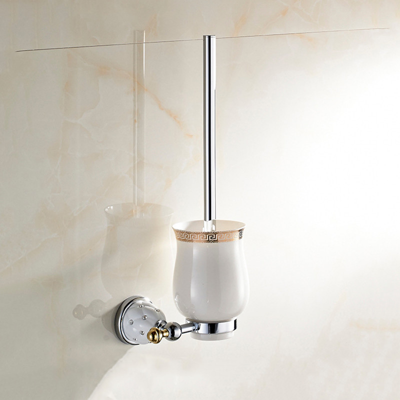Toilet brush holder with Ceramic cup household products bath decoration bathroom accessories