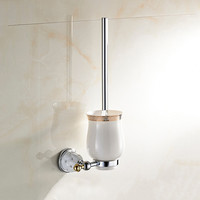 Toilet brush holder with Ceramic cup/ household products bath decoration bathroom accessories