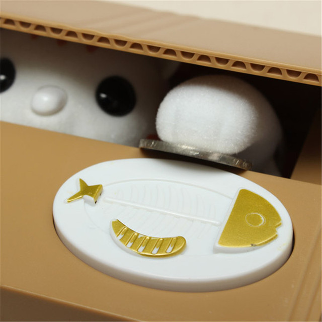 Electric Cute Cartoon Automated Lovely Cat Stealing Bank Saving Box Coin Bank Gift for Children Kids Toy