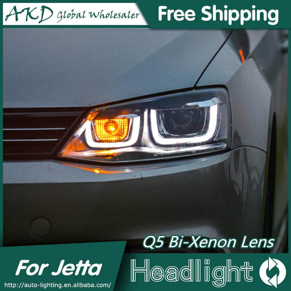 Akd car styling for vw jetta headlights 2011 2015 new jetta mk6 led headlight drl