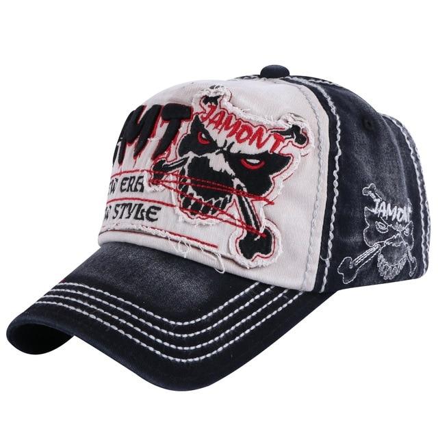 new trendy women men brand baseball cap hat embroidery skull pattern hip  hop snapback outdoor sports girl boy strapback hats 438469a4aca