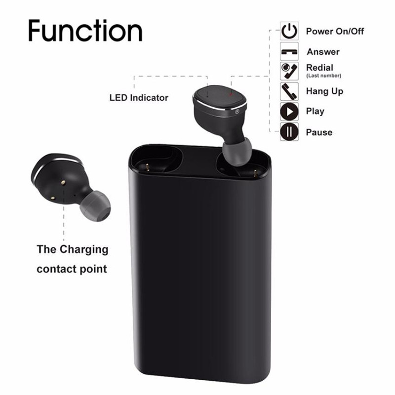 HESTIA D05 TWS True Wireless Earphone Headset Auriculares Bluetooth Earphone Portable Earbud With Mic for Iphone Android Ipad PC hestia m9 tws bluetooth headset wireless earbud metal charge case bluetooth earphone for phone mic for calls for xiaomi huawei