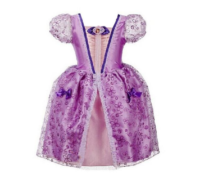 Vestidos de alta qualidade princesa sofia sofia a primeira traje para crianças crianças da criança do bebê vestido formal