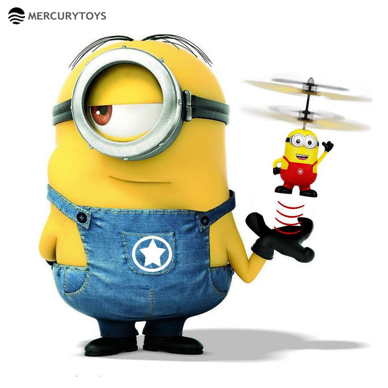 MERCURYTOYS Upgrade Induction Flying Toys Despicable Me5 Minions Remote Control RC Helicopter floating toys kids Flying