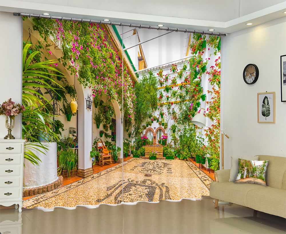 Floral print Modern Luxury 3D Blackout Window Curtains Drapes For Living room Bed room Office Hotel Wall Tapestry Cortinas Floral print Modern Luxury 3D Blackout Window Curtains Drapes For Living room Bed room Office Hotel Wall Tapestry Cortinas