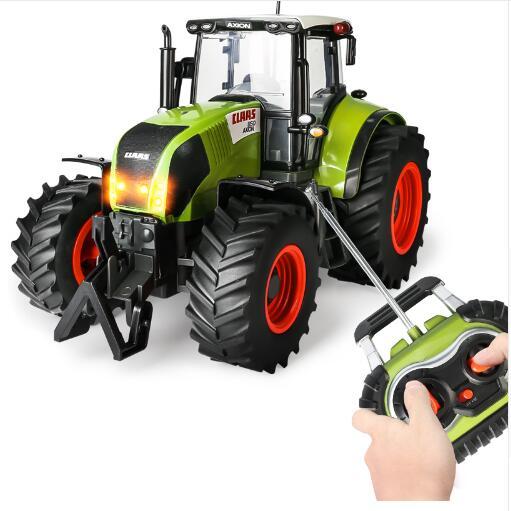 9ff45936a1f874 Nouvelle RC Camion Tracteur Agricole Sans Fil Télécommande Remorque 1 16  Haute Simulation Échelle Construction