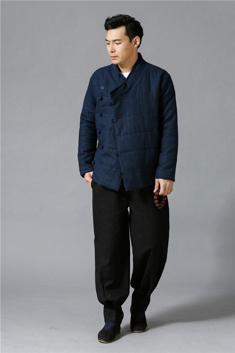 Chinois Noir Automne Et Hommes Nouvelle 2018 Au bleu Chaud Pour Partie Avant Vêtements D'hiver Latérale rembourré D685 Style Veste Coton marron Garder Arrivée wvxqwz