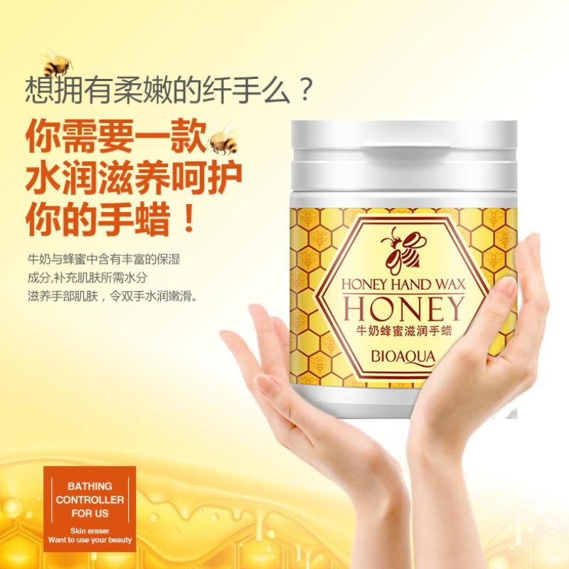 BIOAQUA Honey Hand Wax Milk Cream Paraffin Whitening Nourish Hydrating Moisturizing Remove Dead Skin Hand Care
