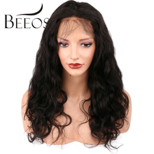 BEEOS Glueless 360 Lace Frontal Wig For Black Women Brazilian Human Hair Body Wave Remy Hair Pre Plucked Natural Hairline