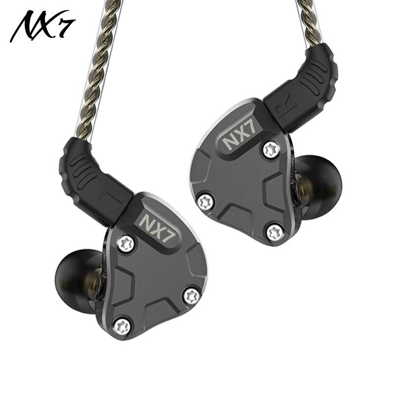 NiceHCK – écouteurs HIFI NX7/NX7 Pro 7 unités pilotes, 4BA + double CNT dynamique + céramique piézoélectrique hybride, filtre remplaçable, panneau frontal
