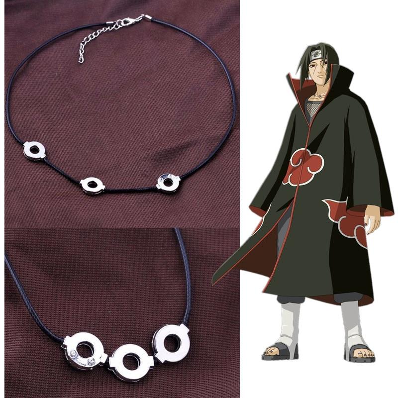 Anime Naruto Akatsuki Uchiha Itachi Necklace Titanium Steel Pendant Cosplay
