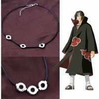 Anime Naruto Akatsuki Uchiha Itachi Halskette Titan Stahl Anhänger Cosplay